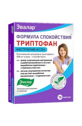 Evalar Tryptophan Formula for Tranquility 60 capsules