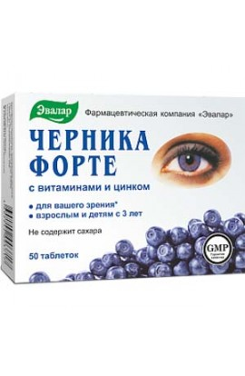 Evalar Cernica-Forte with vitamins and zinc 150 tablets