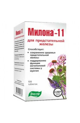 Evalar Milona-11 for the prostate 100 tablets