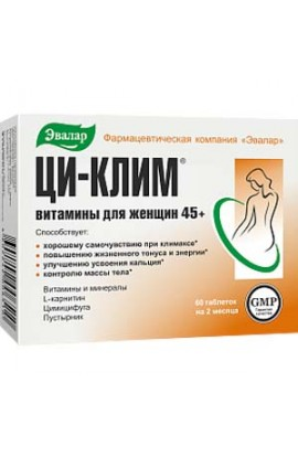 Evalar Qi-Klim Vitamins for Women 45+ 60 tablets