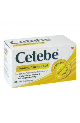 Cetebe Vitamin C Retard kapsle 500 mg (60 ks)