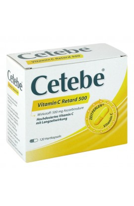 Cetebe Vitamin C Retard kapsle 500 mg (120 ks)