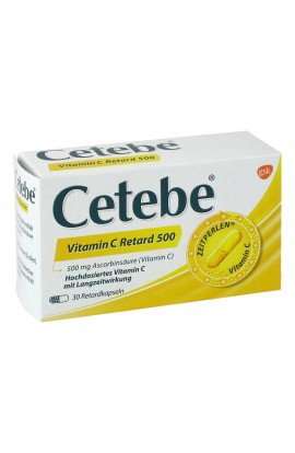 Cetebe Vitamin C Retard kapsle 500 mg (30 ks)