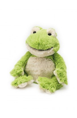 Soframar Cozy plush hot water bottle frog