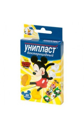 Uniplast Adhesive plaster bactericide for children Mickey Mouse and Friends  N 20