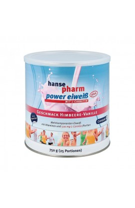 Hansepharm Power protein plus raspberry vanilla Plv (750 g)