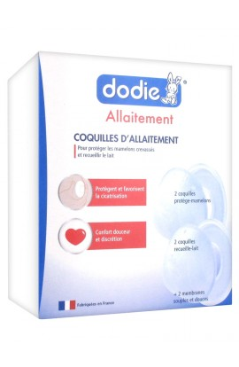 Dodie 2 nipple protectors + 2 milk trays