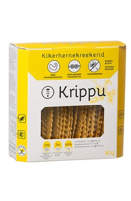 ESTVITA KRIPPU Gluten-free crackers from chick pea 80 g