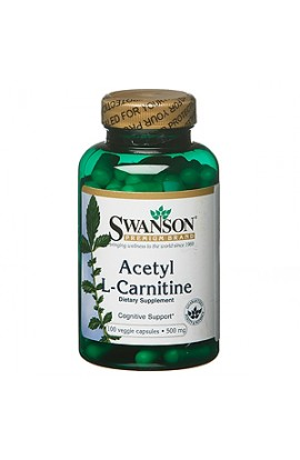 Swanson Acetyl-L-carnitine 500 mg, 100 capsules
