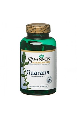 Swanson Guarana 500 mg, 100 capsules