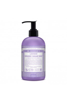 DR. BRONNER'S, LIQUID SOAP FOR BODY AND HAIR SUGAR-SHIKAKAI, LAVENDER, 355 ML