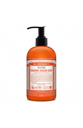 DR. BRONNER'S, LIQUID SOAP FOR BODY AND HAIR SUGAR-SHIKAKAI, TEATREE, 355 ML