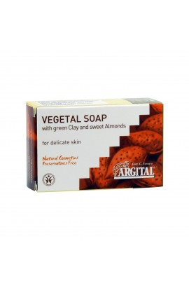 ARGITAL, VEGETABLE SOAP WITH GREEN CLAY AND ALMOND OIL, 100 G