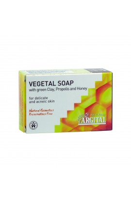 ARGITAL, VEGETABLE SOAP WITH GREEN CLAY AND PROPOLIS AND HONEY, 100 G