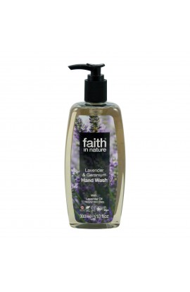 FAITH IN NATURE, LIQUID SOAP LAVENDER & GERANIUM, 300 ML