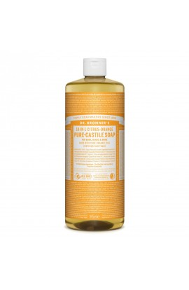 DR. BRONNER'S, LIQUID UNIVERSAL SOAP ALL-ONE!, CITRUS-ORANGE, 945 ML