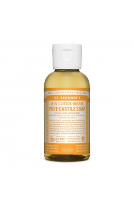 DR. BRONNER'S, LIQUID UNIVERSAL SOAP ALL-ONE!, CITRUS-ORANGE, 60 ML