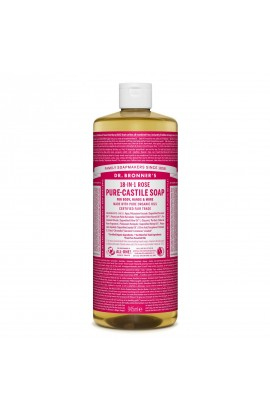 DR. BRONNER'S, LIQUID UNIVERSAL SOAP ALL-ONE!, ROSE, 946 ML