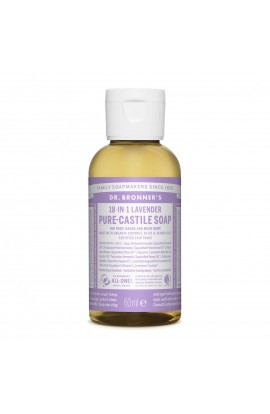 DR. BRONNER'S, LIQUID UNIVERSAL SOAP ALL-ONE!, LAVENDER, 60 ML