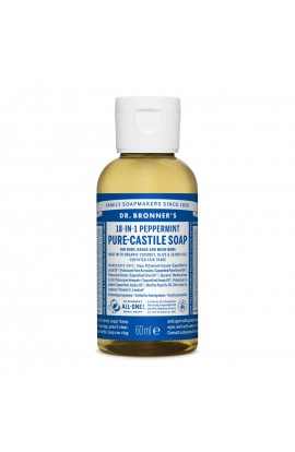 DR. BRONNER'S, LIQUID UNIVERSAL SOAP ALL-ONE!, PEPPERMINT, 60 ML
