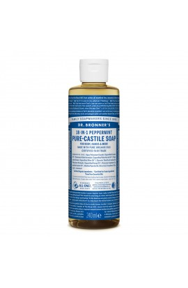 DR. BRONNER'S, LIQUID UNIVERSAL SOAP ALL-ONE!, PEPPERMINT, 236 ML
