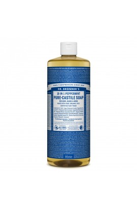 DR. BRONNER'S, LIQUID UNIVERSAL SOAP ALL-ONE!, PEPPERMINT, 946 ML