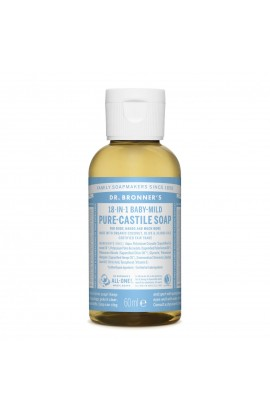 DR. BRONNER'S, LIQUID UNIVERSAL SOAP ALL-ONE!, BABY-MILD, 60 ML