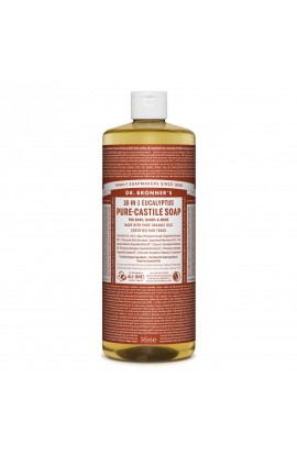 DR. BRONNER'S, LIQUID UNIVERSAL SOAP ALL-ONE!, EUKALYPTUS, 946 ML