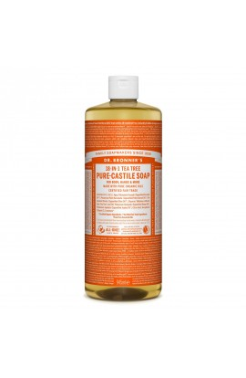 DR. BRONNER'S, LIQUID UNIVERSAL SOAP ALL-ONE!, TEATREE, 946 ML