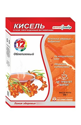 "Altay vitamins Kissel ""Vitalife"" sea-buckthorn enriched with vitamins 300 g"