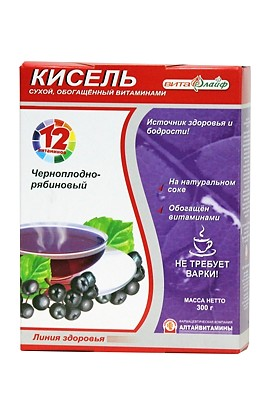 "Altay vitamins Kisel ""Vitalife"" black-cherry, enriched with vitamins 300 g"