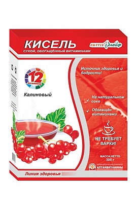 "Altaivitamins Kisel ""Vitalife"" Kalinovy, enriched with vitamins 300 g"