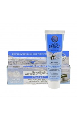 NATURA SIBERICA, BLACK WHITENING TOOTHPASTE POLAR NIGHT, 100 G