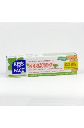 KISS MY FACE, DENTAL GEL SENSITIVE, WITHOUT FLUORIDE, 127,6 GR