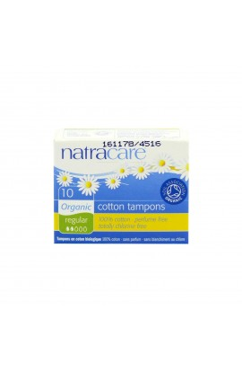 NATRACARE, TAMPONS REGULAR, 10 PIECE