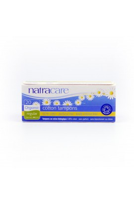 NATRACARE, TAMPONS REGULAR, 20 PIECE