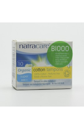 NATRACARE, TAMPONS SUPER, 10 PIECE