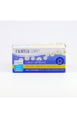 NATRACARE, TAMPONS SUPER WITH APPLICATOR, 16 PIECE