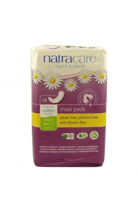 NATRACARE, DAILY SANITARY PADS REGULAR MAXI, 14 PIECE