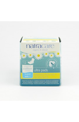 NATRACARE, DAILY SANITARY PADS SUPER ULTRA, 12 PIECE