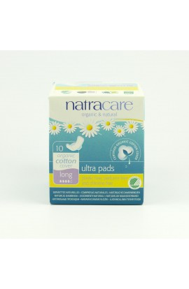 NATRACARE, DAILY SANITARY PADS LONG ULTRA, 10 PIECE