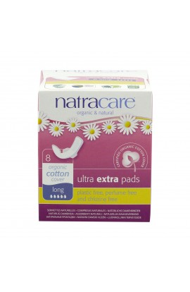 NATRACARE, DAILY SANITARY PADS LONG ULTRA EXTRA, 8 PIECE
