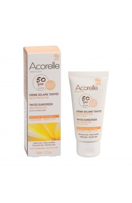 ACORELLE, TONING SUNSCREEN FOR FACE SPF 50 APRICOT, 50 ML