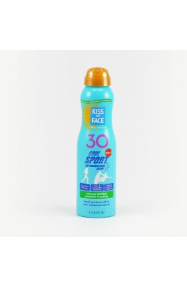 KISS MY FACE, SUNTAN MILK SPF 30 IN A SPRAY BOTTLE, COOL SPORT, 177 ML