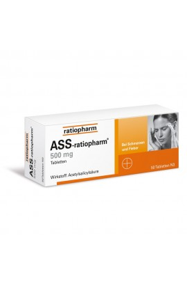 Ratiopharm, ASS 500mg, (50 stk)