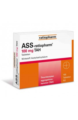 Ratiopharm, ASS  100mg TAH, (100 stk)