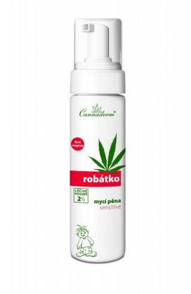 Baby washing foam for the body Robatko, 200 ml, Cannaderm