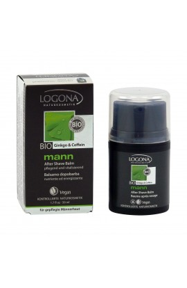 LOGONA, AFTERSHAVE BALM GINKGO AND COFFEIN, LOG MANN, 50 ML