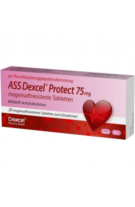 Dexcel,ASS Dexcel Protect 75mg, (20 tab)