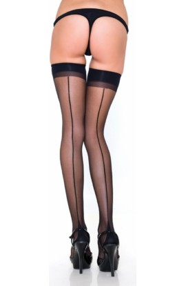 René Rofe Fishnet thigh high with backseam